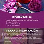 Mermelada hecha con flores