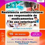 """Conferencia """"Resistencia antimicrobiana"""" en la UNAM"""
